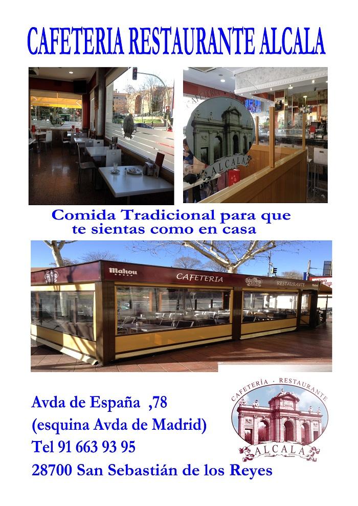 Cafeter a restaurante alcal comida casera en san for Viviendas en san sebastian de los reyes